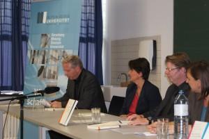 Arno Rußegger, Alice Pechriggl, Jörg Helbig und Anna Schober | Foto: aau/KK