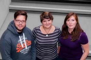 ÖH-Vorsitzteam: Philip Flacke, Gabriele Kern und Rhea Göschl