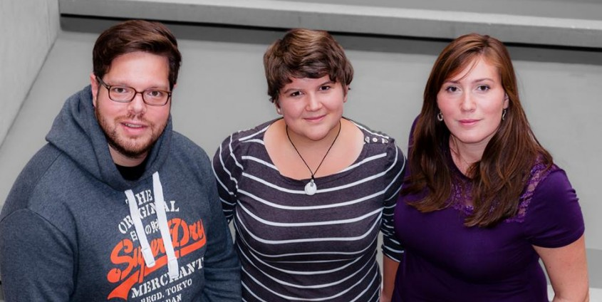 ÖH-Vorsitzteam: Philip Flacke, Gabriele Kern und Rhea Göschl   Foto: aau/KK
