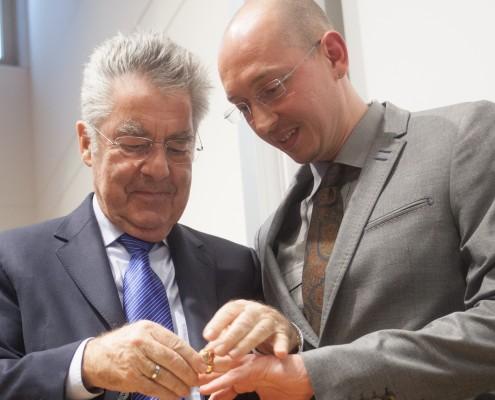 Bundespräsident Heinz Fischer und René Schallegger | Foto: aau/Maurer