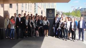 Die Studierenden der Rechtswissenschaft besuchen die Institutionen der Europäischen Union. (Foto: privat)