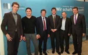 Arno Karrer, Moritz Maerkel, Karlheinz Töchterle, Oliver Vitouch, Norbert Frei und Wolfgang Waldner | Foto: aau/Hoi