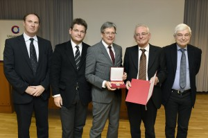Horst Peter Groß, Oliver Vitouch, Peter Kaiser, Peter Heintel und Rudolf Wimmer (v. l. n. r)