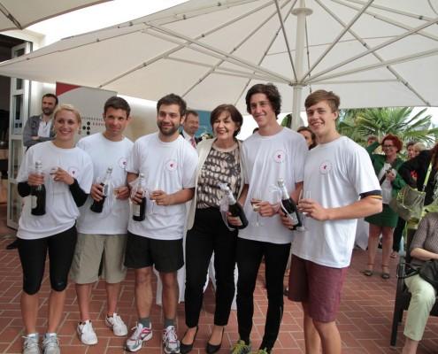 Das Ruderteam der PH Kärnten mit Rektorin Marlies Krainz-Dürr | Foto: aau/pibal