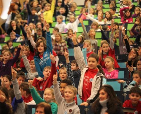 Großer Andrang bei der UNI für Kinder| Foto: aau/Hoi