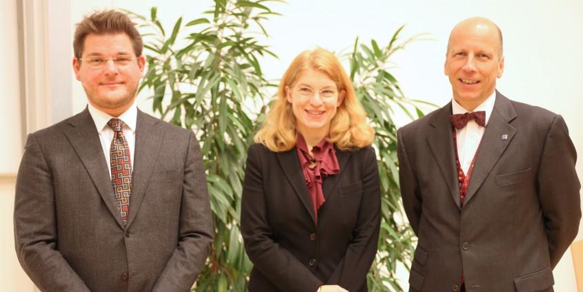 Rektor Oliver Vitouch, Vizerektorin Friederike Wall und Vizerektor Martin Hitz   Foto: aau/Hoi