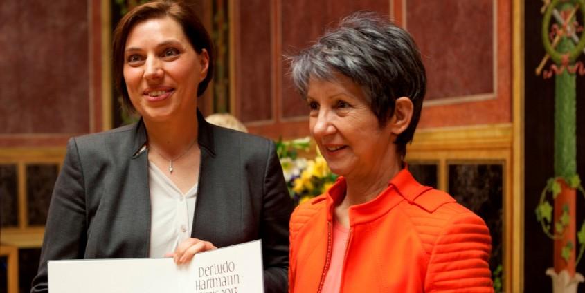 Karin Gugitscher mit Nationalratspräsidentin Barbara Prammer| Foto: Obermair