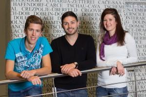 ÖH-Vorsitzteam: Arno Karrer, Moritz Maerkel und Monika Skazedonig (v.l.n.r.) | Foto: aau/ÖH Klagenfurt