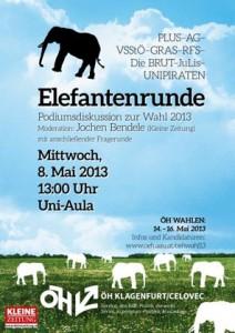 Elefantenrunde ÖH Plakat