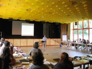 Workshop mit Philipp Mayring (Leiter des ZEF) | Foto: aau/KK