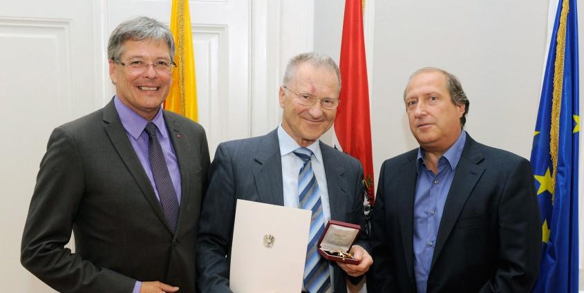 Peter Kaiser, Peter Posch und Rolf Holub | Foto: LPD/fritzpress