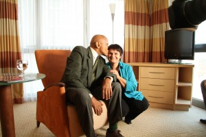 Regisseurin Sabina Zwitter-Grilc und Harry Belafonte