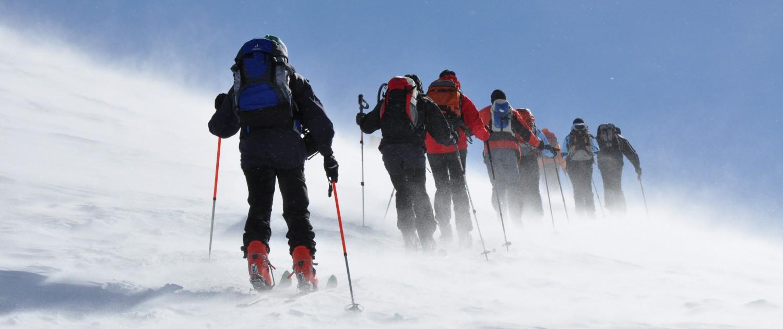 Alpen-Adria-Universität Universitätssportinstitut Skitour Aufstieg |Foto: aau/usi