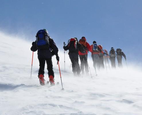 Alpen-Adria-Universität Universitätssportinstitut Skitour Aufstieg