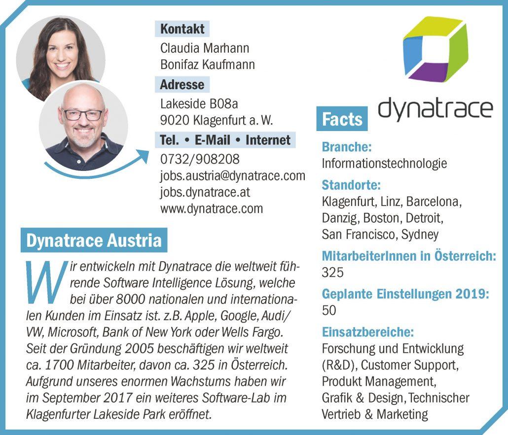 Unternehmensprofil connect18 Dynatrace