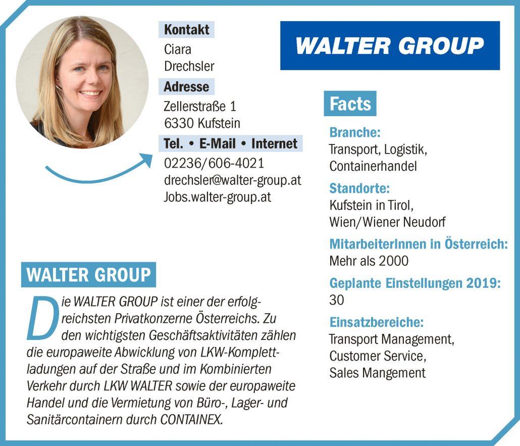 Unternehmensprofil connect18 Walter Group