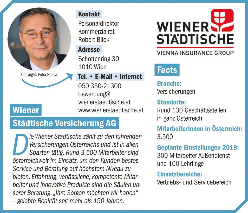 Unternehmensprofil connect18 Wiener Städtische