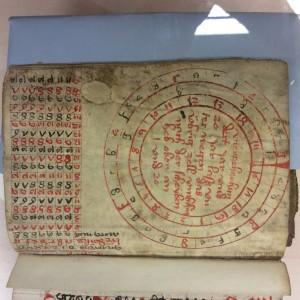 Kalenderscheibe in Pergamenthandschrift von 1420 (Foto: Christa Herzog)