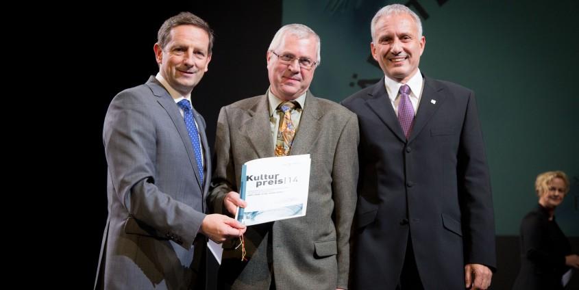 Würdigungspreis des Landes Kärnten für Franz Rendl (mitte) | Foto: KLZ/Weichselbraun