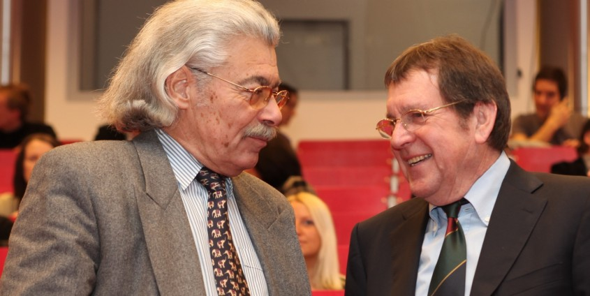 Ehrenringträger Hans-Joachim Bodenhöfer und Walter Schludermann | Foto: aau/Hoi