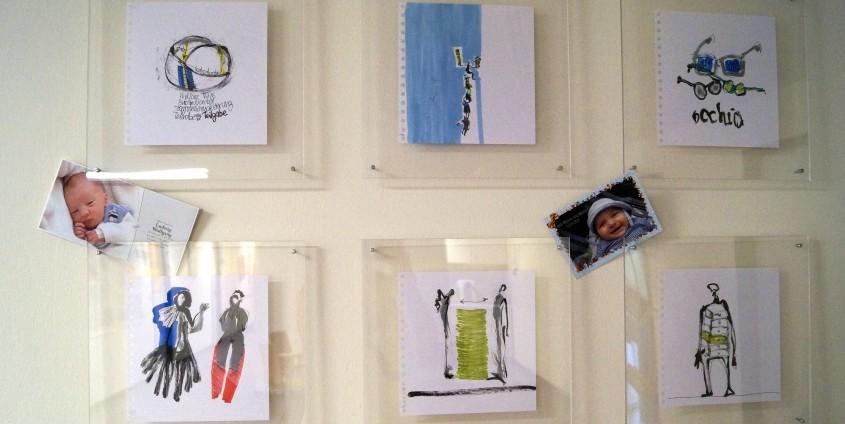 Bilderwand Foyer Palliative Care| Foto: aau/Maier