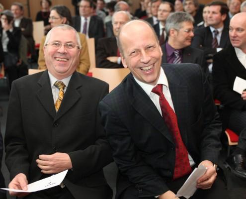 Studienrektor Franz Rendl und Dekan Martin Hitz   Foto: aau/Hoi