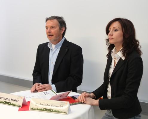 Hermann Maier und Gabriele Frankl | Foto: aau/Hoi