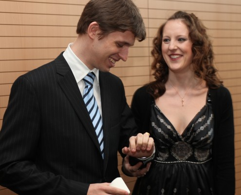 Mit Ehefrau Lisa Kazianka   Foto: aau/Hoi