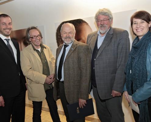 Eröffnung mit Christian Brandstätter, Karlheinz Fessl, Hubert Lengauer, Klaus Ottomeyer, Mirjam Polzer-Srienz (v.l.) | Foto: Konitsch