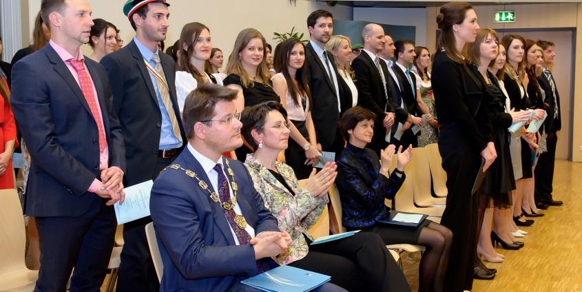 Commencement Speech von Herlitschka bei Sponsion | Foto: Wallner