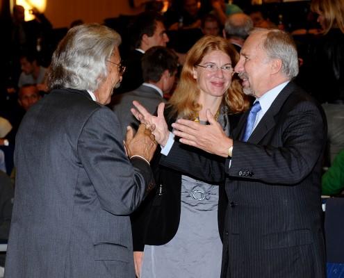 em.Prof. Bodenhöfer, Prof. Wall, OeNB-Gouverneur Prof. Nowotny | Foto: aau/Wallner