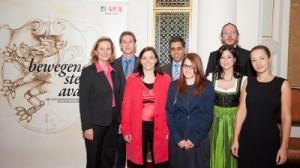 Die PreisträgerInnen mit den LaudatorInnen | Foto: Raggam
