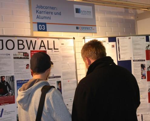 Jobwall der Uni Klagenfurt | Foto: aau/wajand