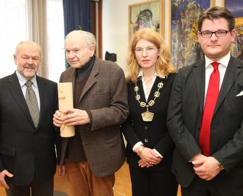 Hubert Lengauer, Felix Orsini-Rosenberg, Friederike Wall und Oliver Vitouch | Foto: aau/Hoi