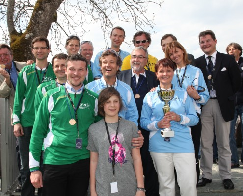 Die Teams der Amateur-Vierer-Regatta | Foto: aau/Hoi