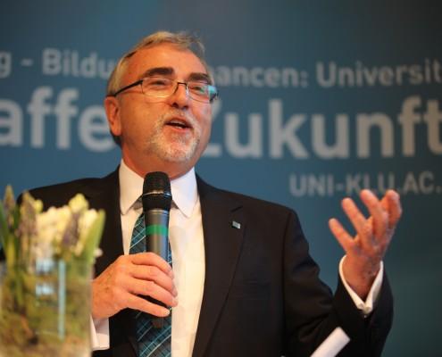 Rektor Heinrich C. Mayr | Foto: aau/Hoi