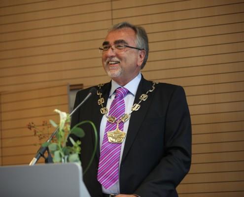 Begrüßung durch Rektor Heinrich C. Mayr   Foto: aau/Hoi