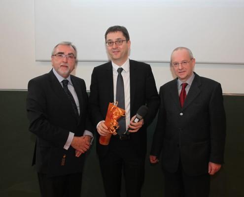 Rektor Heinrich C. Mayr, Honorarprofessor Reinhard Schwarz & o.Univ.-Prof. Wolfgang Nadvornik | Foto: aau/Hoi