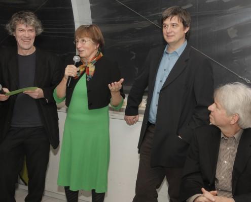 Die Festredner: Gert Dressel, Institutsgründerin Marina Fischer-Kowalski und Institutsleiter Helmut Haberl (von links) | Foto: aau/Selina de Beauclair
