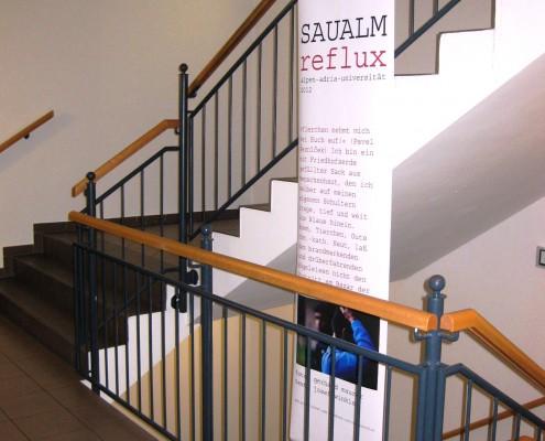 Ausstellung SAUALM reflux an der IFF Wien