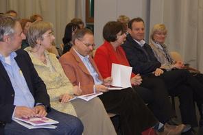 Unter den Gästen: IUS-Vorstand Konrad Krainer, PH-Rektorin Marlies Krainz-Dürr, LSI Axel Zafoschnig | Foto: aau/KK