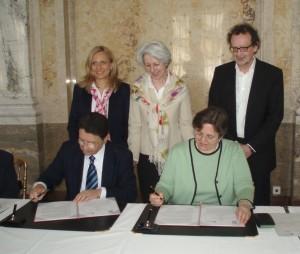 Taleb Rifai und Verena Winiwarter (1. Reihe), Cordula Wohlmuther, Elisabeth Udolf-Strobl und Werner Wintersteiner (v.l.n.r. 2. Reihe) | Foto: BMWFJ//Ingrid Wehrmann
