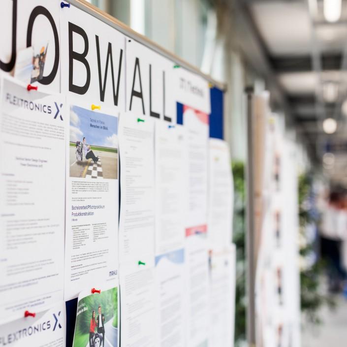 Jobwall bei der Veranstaltung connect