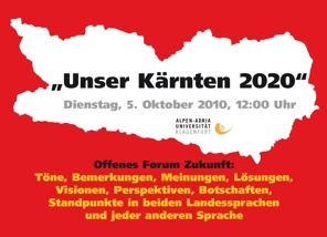 Unser Kärnten 2010 Plakat | Foto: aau/KK
