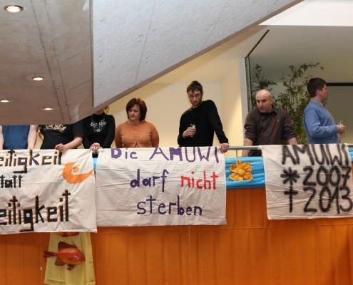Protest gegen die befürchtete Abschaffung der Musikwissenschaft | Foto: aau/Hoi