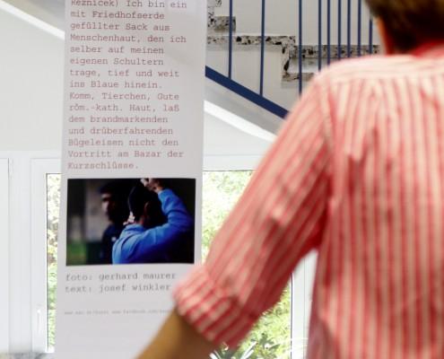 Ausstellung SAUALM reflux in der Sterneckstraße