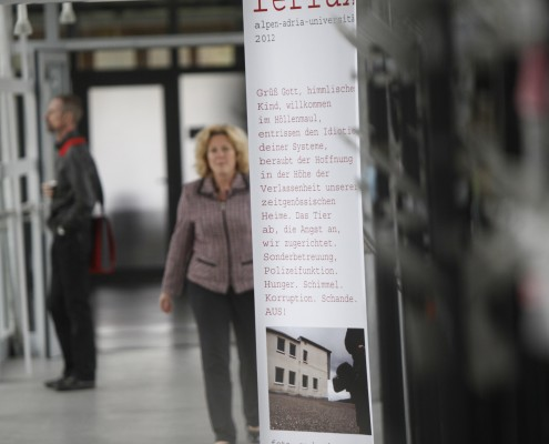 Ausstellung SAUALM reflux auf der Ostbrücke