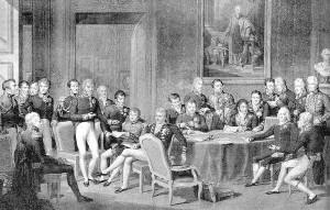 Wiener Kongress (gezeichnet von Jean Baptiste Isabey)