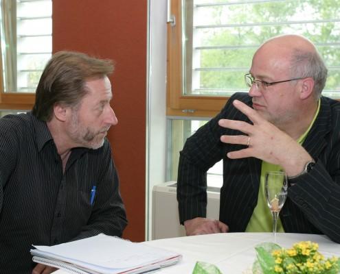 Jürgen Pilz (Uni) und Hans Schönegger (KWF) | Foto: aau/Wagner