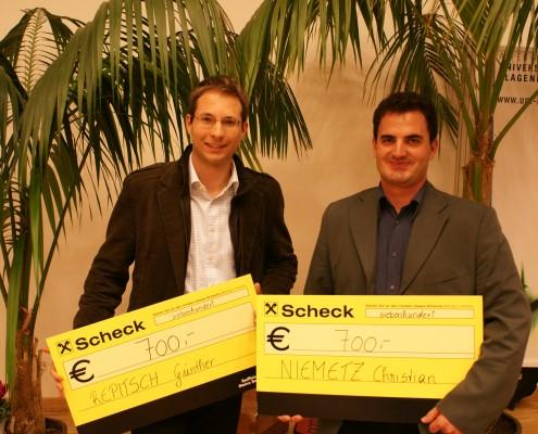 Preisträger Günther Repitsch und Christian Niemetz | Foto: aau/Hoi